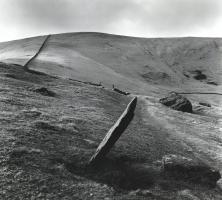 Fay Godwin, Marker Stone, Harlech, London Road, 1976