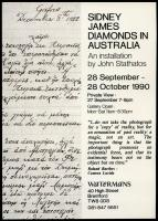 John Stathatos: Sidney James Diamonds in Australia / Γιάννης Σταθάτος: Ο Sidney James Diamonds στην Αυστραλία