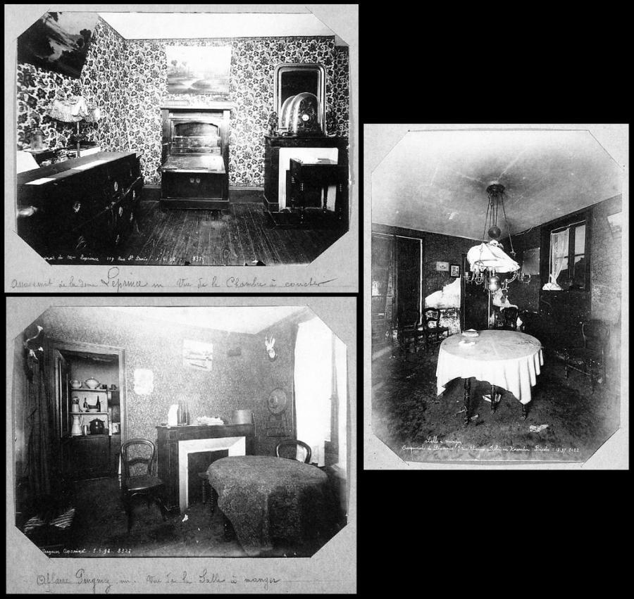 Alphonse Bertillon: Scene of the crime photos, 1890s